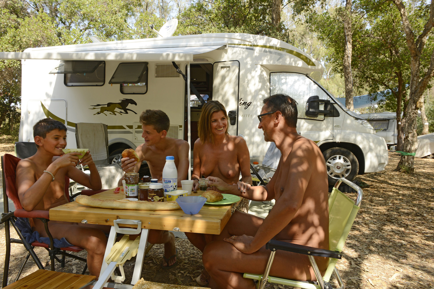Nudist camping video